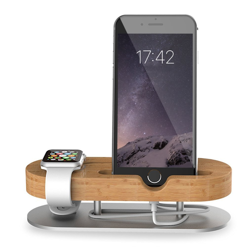 apple watch stand universal 2 in 1 iphone stand best offer reviews. Black Bedroom Furniture Sets. Home Design Ideas