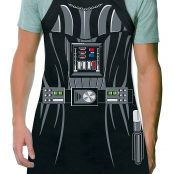 Darth Vader Be The Character Adult Size 100% Cotton Adjustable Black Apron2