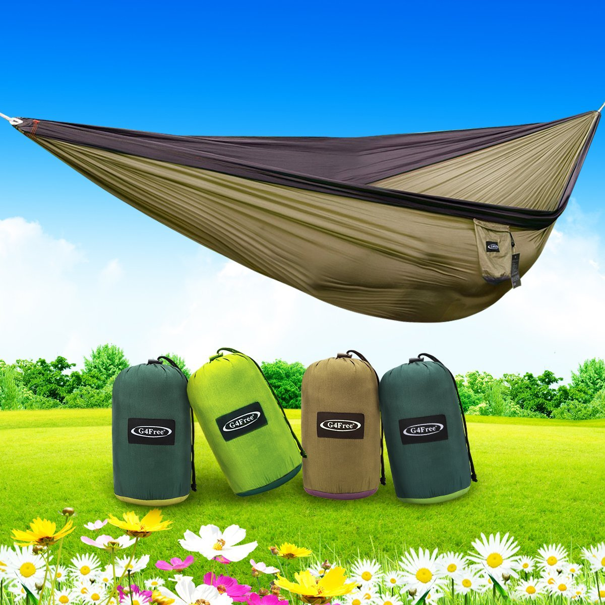 G4free Double Camping Hammock 2 Person 4