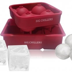 Ice Cube Tray Silicone Large Square and Sphere Round