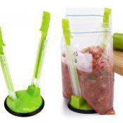 Sandwich Baggy Rack (4 Pack) Clip Food Storage Bags Holder2