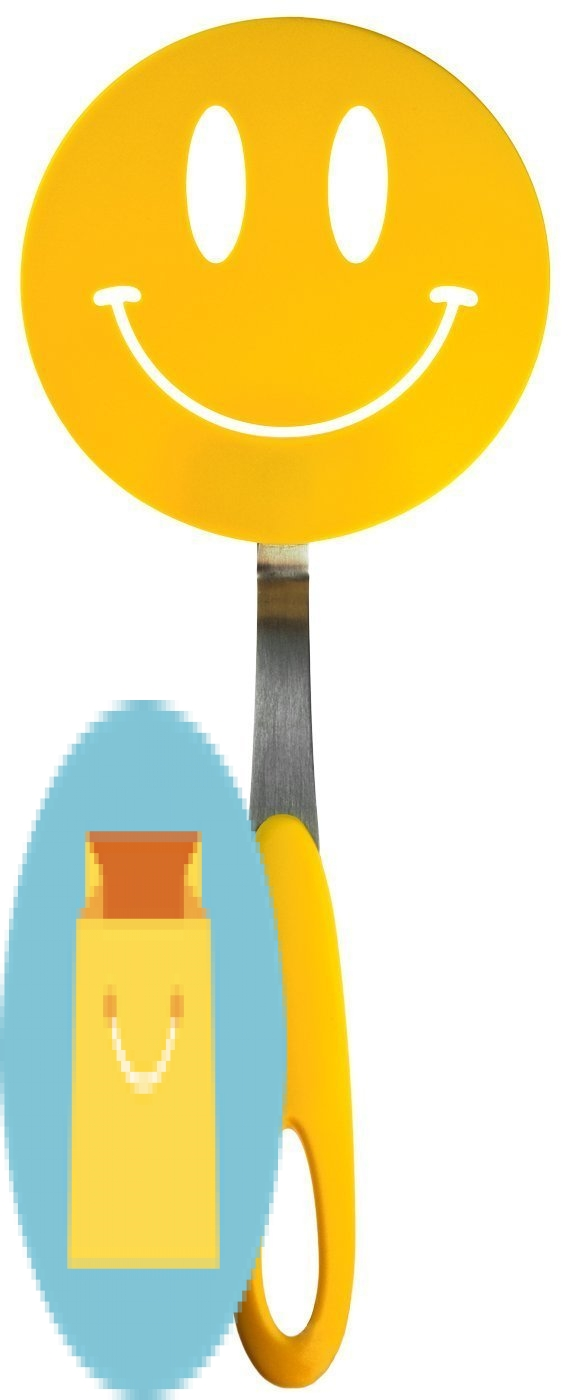 Tovolo Spatulart Smiley Face Nylon Flex Turner