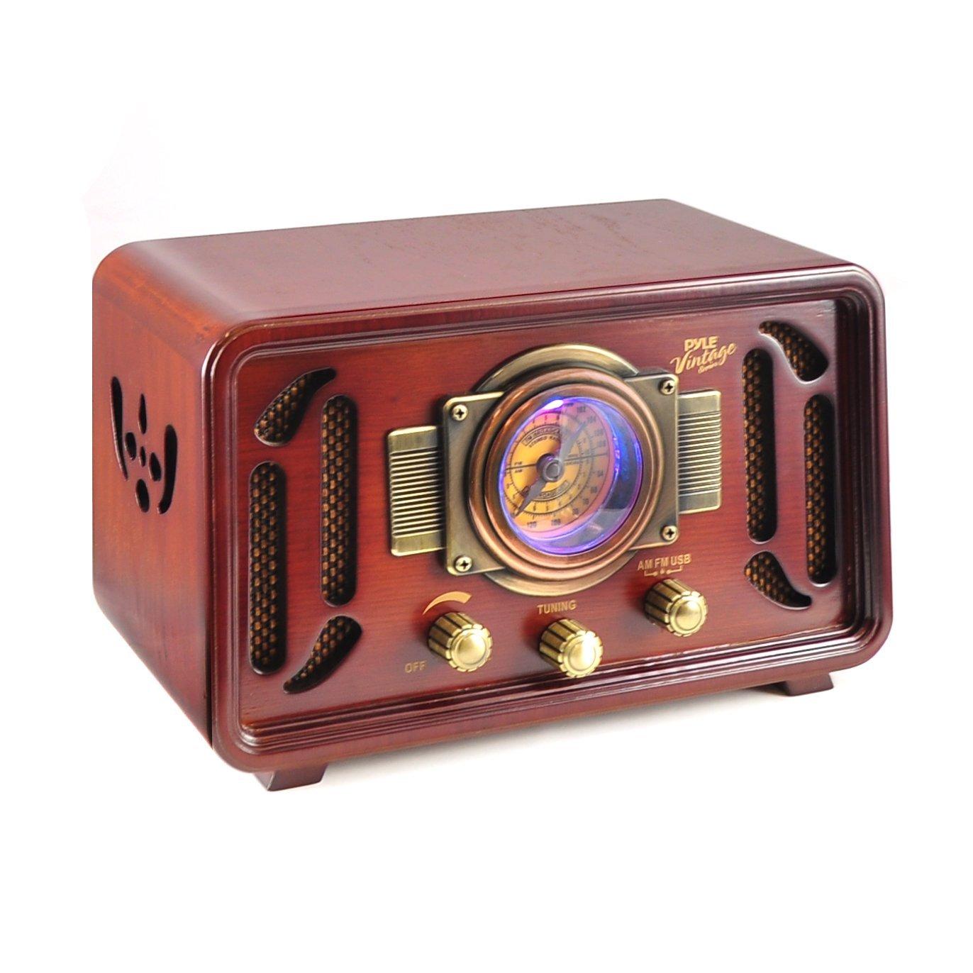 Vintage Retro Classic Style Bluetooth Radio Sound System ...