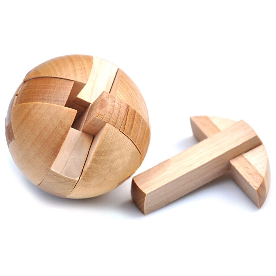 Wooden Puzzle Magic Ball Brain Teasers Toy Intelligence ...