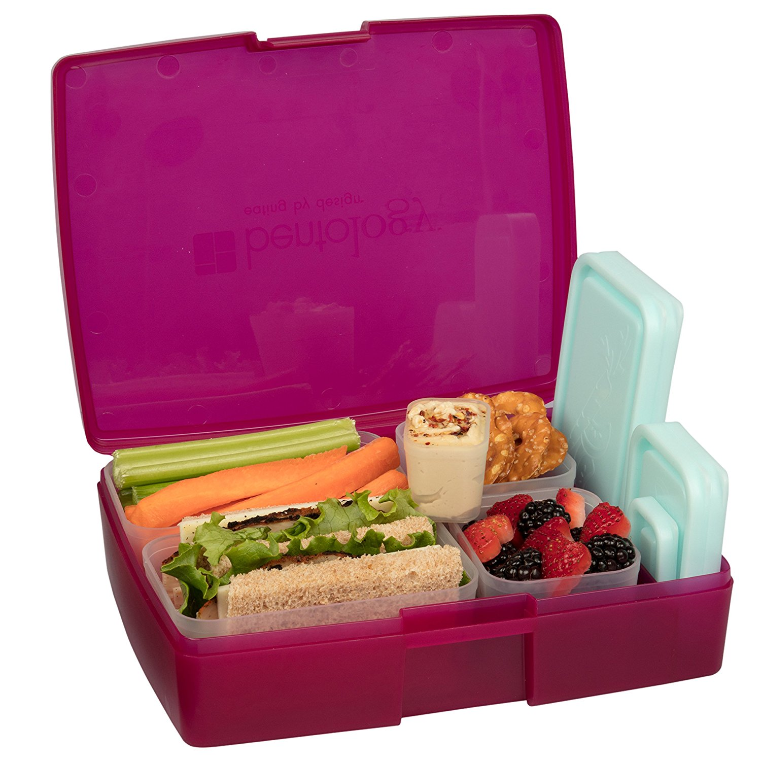 bentology leak proof bento lunch box with 5 removable containers best offer. Black Bedroom Furniture Sets. Home Design Ideas