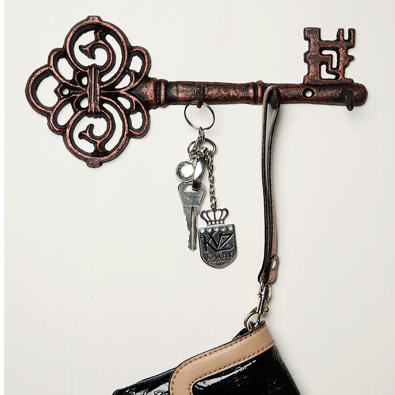 decorative wall mounted cast iron key holder best offer. Black Bedroom Furniture Sets. Home Design Ideas