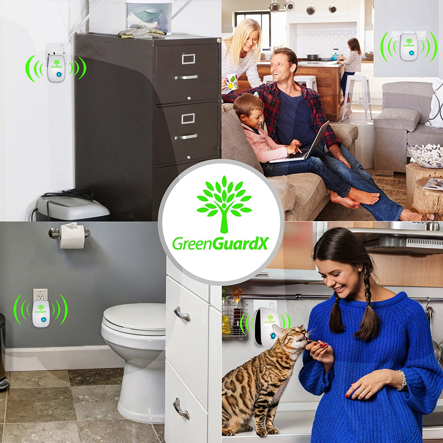 the pest control repeller Safe chemical free indoor pest control device designed to help reduce nesting  within the walls of mice, rats and roaches safe for all non-rodent based.