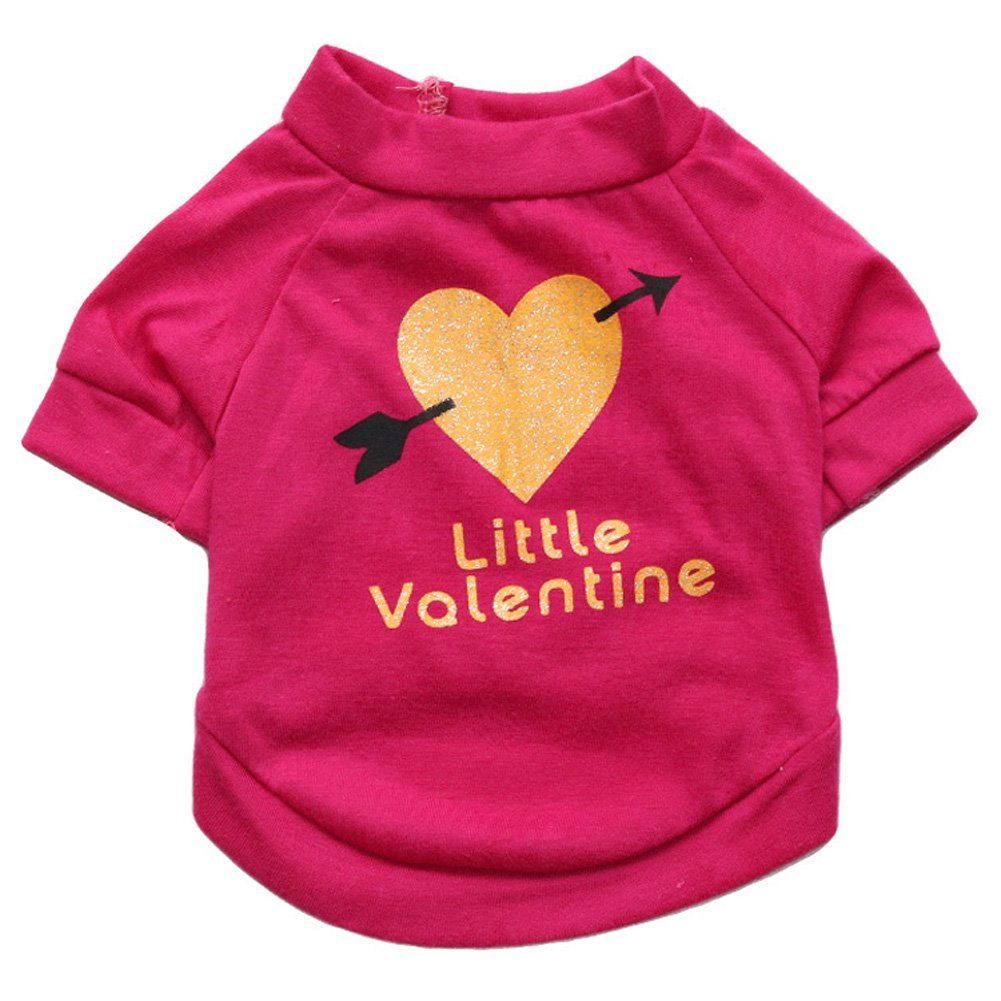 Little Valentine Printed T Shirt Small Dogs Best Offer