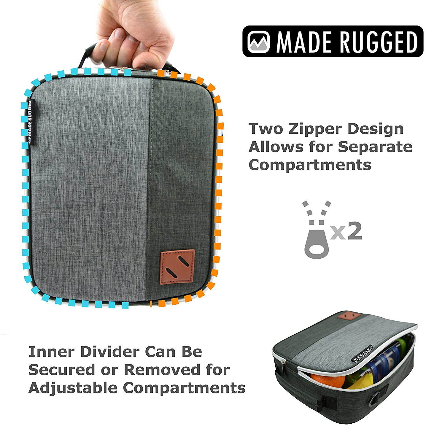 Made Rugged Lunch Bag For Men Work School Travel Amp Diet