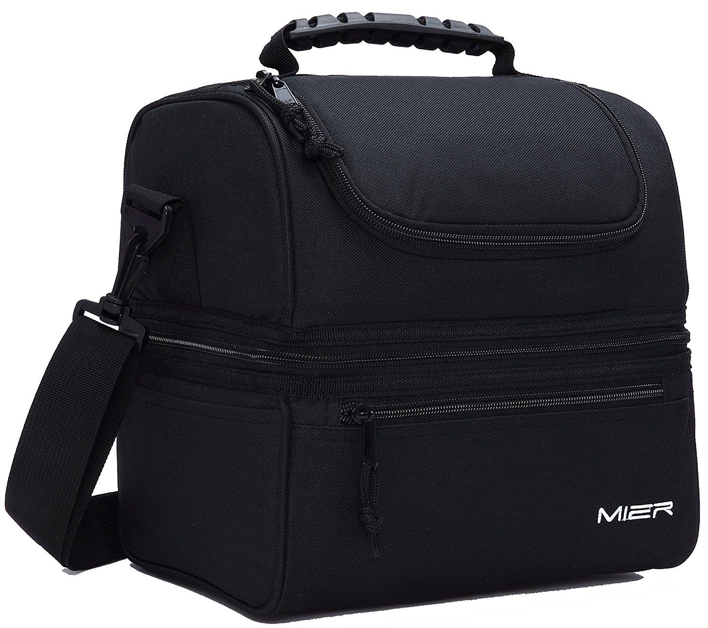mier adult lunch box insulated lunch bag large cooler tote bag best offer reviews. Black Bedroom Furniture Sets. Home Design Ideas