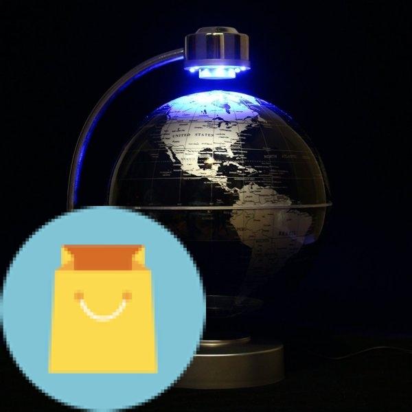 Magnetic Levitation Floating World Map Globe