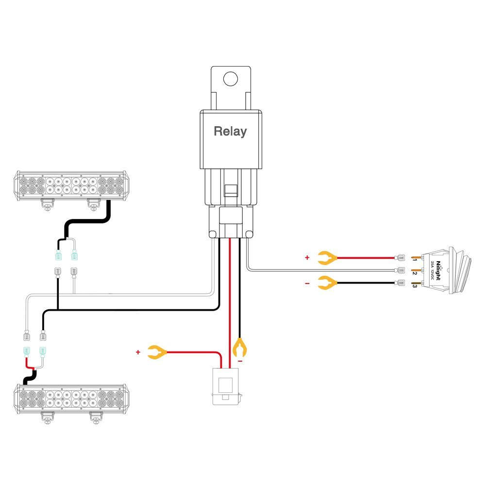 Wiring A Led Light Great Engine Diagram Schematic Bar For Atv Nilight Harness Kit 12v On Off Switch Driver
