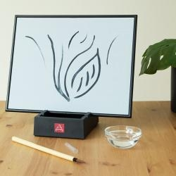 Painting & Writing Board with Bamboo Brush & Stand