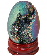 Rainbow Titanium Coated Druzy Geode Sphere
