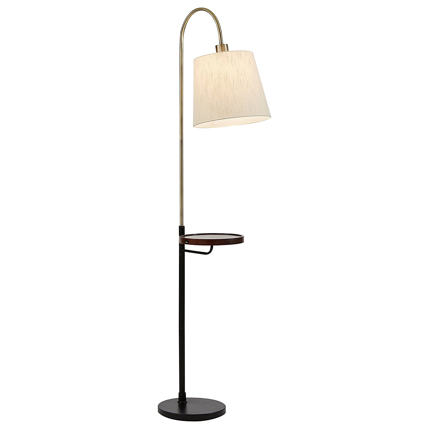 Rivet franklin shelf and usb charging station floor lamp for Amazon floor lamp shelf