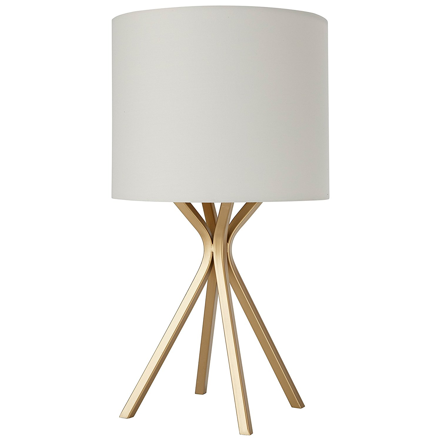 Rivet Gold Table Lamp With Drum Linen Shade Best Offer Reviews
