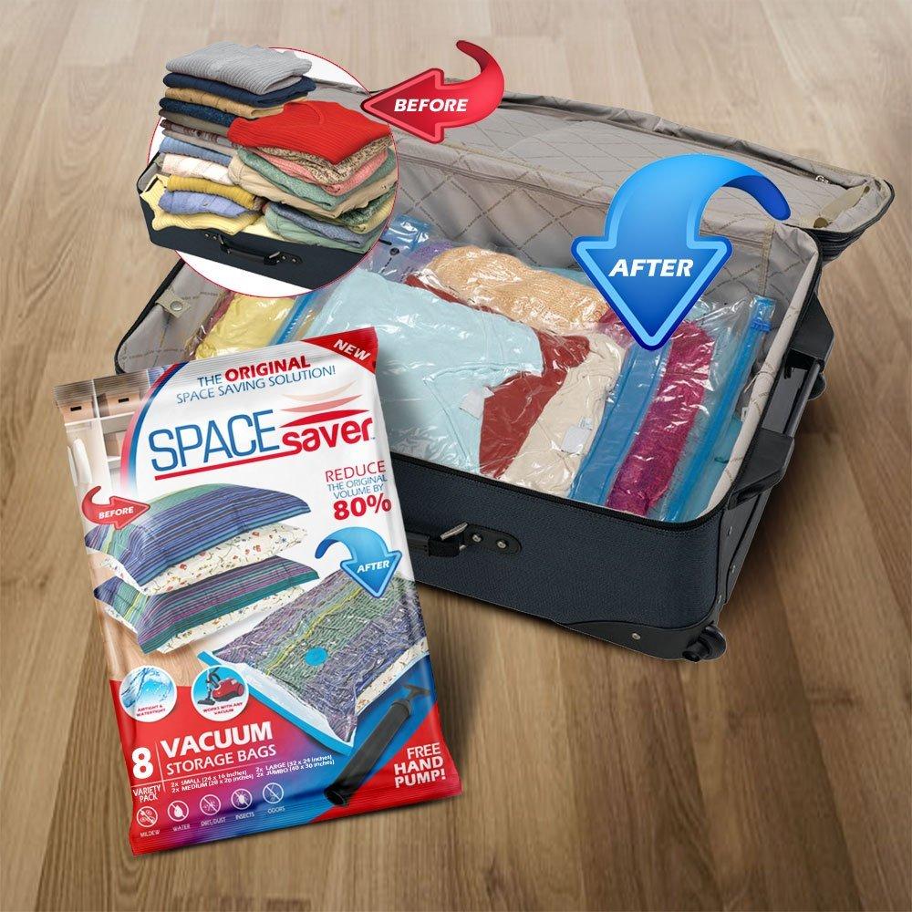 SpaceSaver Premium Vacuum Storage Bags 8 Pack Best fer