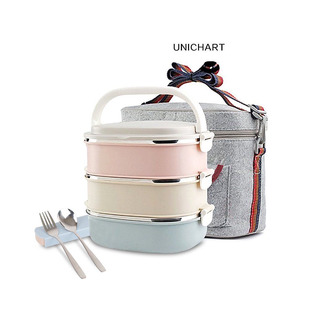 Update Unichart Stainless Steel Square Lunch Box Best ...