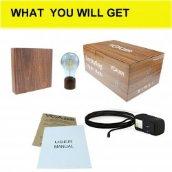 VGAzer Magnetic Levitating Floating Wireless Led Light Bulb