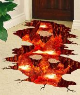Volcano Spouts Flame and Lava Wall Decals3