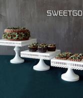 White Square Cake Stand