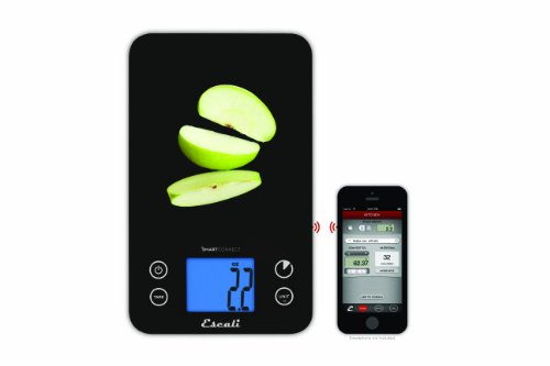 Escali smart connect bluetooth kitchen scale 11 pound for Bluetooth kitchen scale