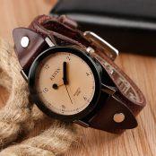 Chic Style Creative Fashion Wrist Watch Women Leather Band