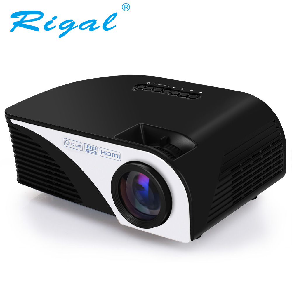 Rigal projector 1200 lumens android 4 4 4 wifi led for Best wifi portable projector