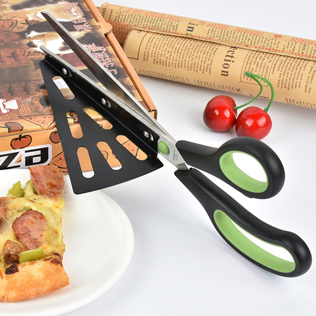 Pizza scissors with shovel pizza cutter best offer reviews for Gardening tools pakistan