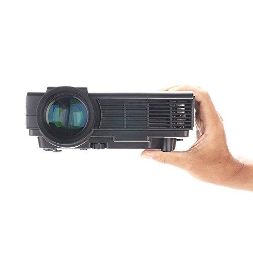 Dihome 1500 lumens mini projector portable multimedia home for Best portable projector for home theater