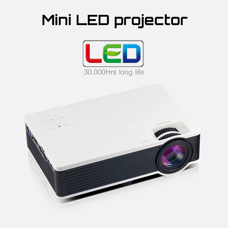 Projector portable led lcd pocket mini projector 800 480 for Portable pocket projector reviews