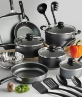 Tramontina PrimaWare 18-Piece Nonstick Cookware Set (Steel Gray)