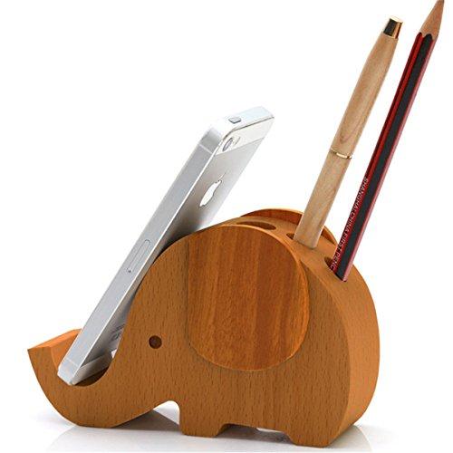 Apsoonsell Wood Elephant Phone Holder Amp Cute Desktop Card