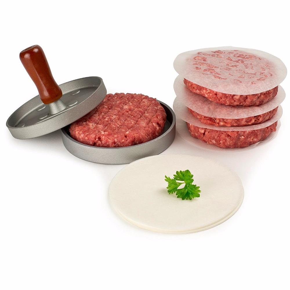 how to use a hamburger patty maker