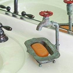 Rustic Spigot Faucet Counter top Bathroom Soap Dish Set