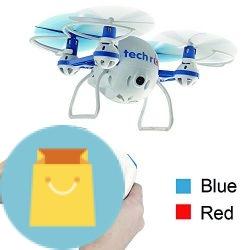 Tech RC Nano Mini Bee RC Drone Quadcopter with HD Camera Live Video
