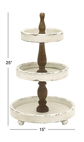 Deco 3 Tier Wood Tray 25 By 15 Inch Best Offer Reviews
