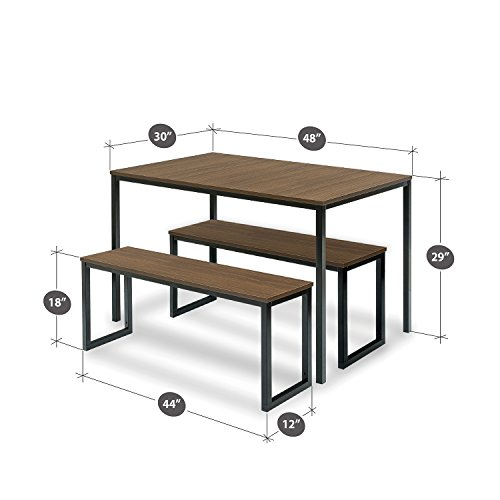 Ordinaire Zinus Modern Studio Collection Soho Dining Table With Two Benches / 3 Piece  Set. Click To Enlarge