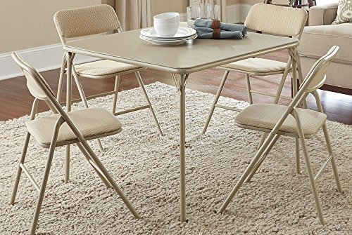 Cosco 5-Piece Folding Table and Chair Set Tan & Cosco 5-Piece Folding Table and Chair Set Tan Best Offer Reviews