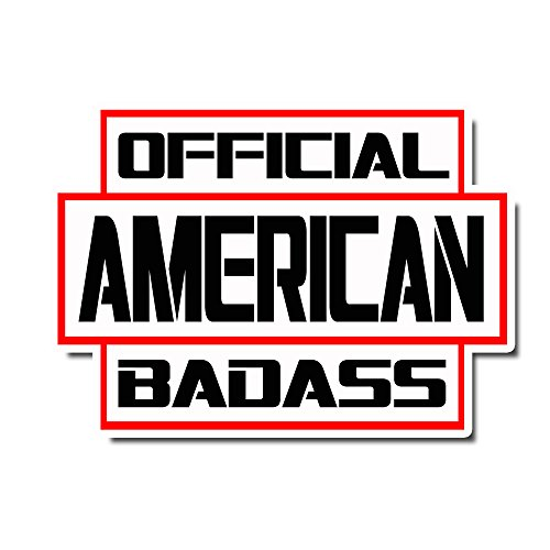 StickerDad OFFICIAL BADASS AMERICAN V3 Full Color Printed Sticker