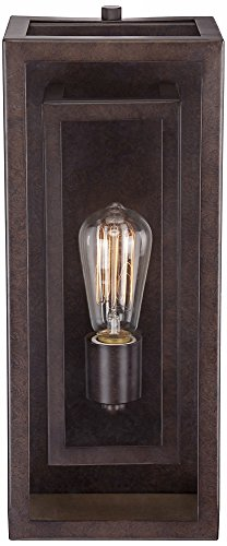 possini euro double box 15 1 2 h bronze outdoor light best offer reviews