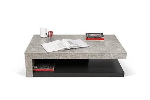 Tema Home Detroit Coffee Table X X Cm Concrete GreyPure - Detroit coffee table