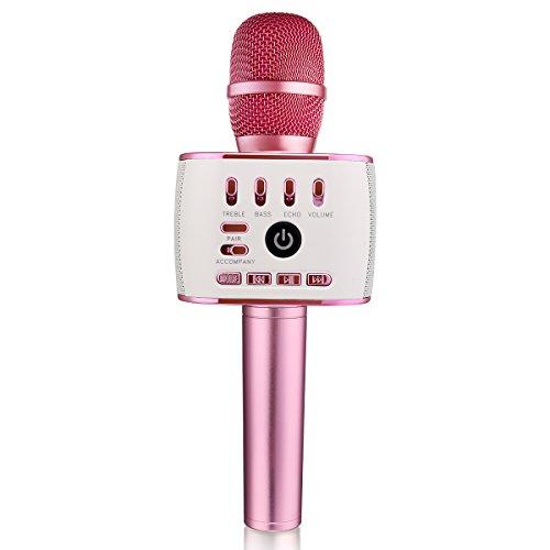 Bonaok upgraded bluetooth wireless microphones karaoke q900 bonaok upgraded bluetooth wireless microphones karaoke q900thanksgiving gift 4 in 1 portable urtaz Images