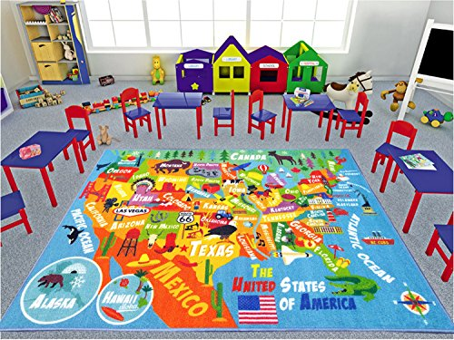 KC CUBS Playtime Collection USA United States Map Educational ...