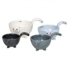 Ceramic Cat Measuring Cups Baking Bowls
