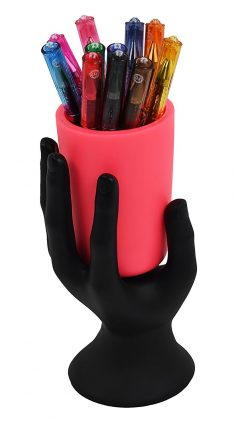 HAND CUP PEN / PENCIL HOLDER by LilGift (Pink)